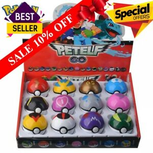 12pcs Pokemon Toys Set Pocket Monster Pikachu Action Figure Poke Ball Pop up