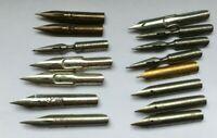15 Vintage Dip Pen Nibs - Myers Perry Mitchells Hinks Wells Birmingham Pen Co