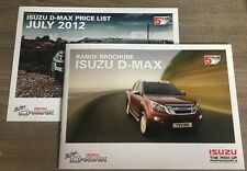 ISUZU D-MAX 2012 RANGE CAR BROCHURE + PRICE LIST. DOUBLE CAB UTAH YUKON EIGER