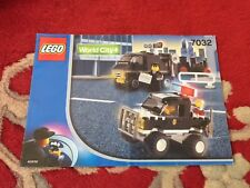 LEGO WORLD CITY 7032 Police 4WD and Undercover Van instruction manual ONLY 2003