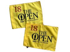 """2 """"THE OPEN"""" GOLF 18 FLAGS ROYAL ST TROON & ROYAL ST GEORGE"""