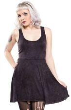 130642 Black Skater Snow Washed Dress Sourpuss Distressed Goth Punk X-Large XL