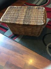 Large Whicker Basket With Lid