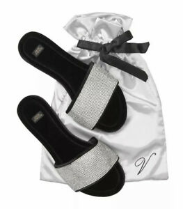 NWT Victorias Secret Rhinestone Embelished Slides Size Medium 7-8