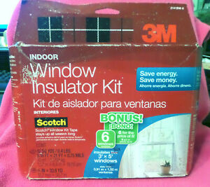"""NEW 3M 2141 Clear Film 62 X 210"""" Indoor Window Insulation Kit 3*5 Cover 6 Scotch"""