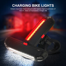 Impermeable Bicicleta LED Luz Trasera Mazorca Recargable USB Luces Nocturnas