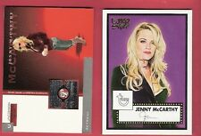 JENNY MCCARTHY PRISTINE WORN JEANS SWATCH RELIC #d175 & TOPPS STYLE CARD ACTRESS
