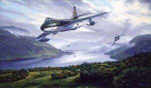 Hawker Hunter Aircraft Aeroplane Jet Fighter Plane Birthday Card