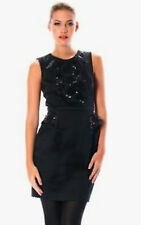 FRENCH CONNECTION SIZE 8 MILLA CROCHET BLACK SEQUIN DRESS BRAND NEW WITH TAGS
