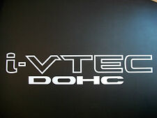 (WHITE) i VTEC DOHC (pair) Vinyl decals stickers vinyl emblem Honda Civic Si