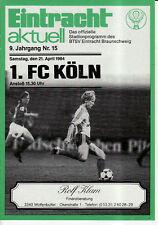 BL 83/84 Eintracht Braunschweig - 1. FC Köln