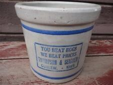 Antique RED WING Stoneware Crock Beater Jar Advertising Curlew Iowa IA