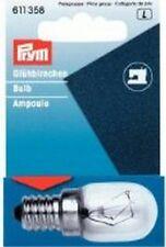 PRYM Glühbirne für Nähmaschine Ersatzglühbirne 220V/15W Schraubfassung 611358