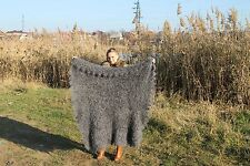 Russian Shawl wool goat down. Hand made. Very soft, very warm, thick, fluffy.119