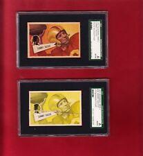 "1952 Bowman Small #30 Sammy Baugh ""2 Rare Proof Cards""  ""Yellow"" SGC Redskins"