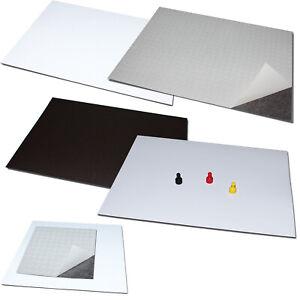 Magnetfolie Eisenfolie DIN A4 A5 Selbstklebend 3M oder Weiß PVC PET Ferrofolie