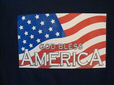 God Bless America American Flag United States USA 4th of July T Shirt M