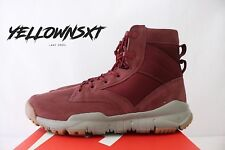 "NIKE SFB 6"" SPECIAL FIELD BOOT SZ 8.5 DARK TEAM RED GUM LEATHER 862507 600"