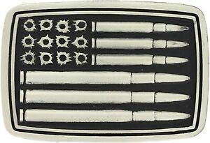 Montana Silversmiths Silver Bullet Flag Attitude Buckle