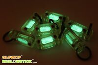 FLUORESCENCE KEYCHAIN GLOW IN THE DARK GREEN LIGHT MARKER GLOW ZIP