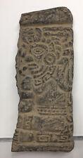 LARGE Pre-Columbian Terracotta Panel Figure Ancient Carving Wall Mayan HUMAN