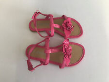 BNWOT Little Girls Sz 11 Pretty Pink Flower Little Treasure Strappy Sandals