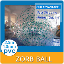 Inflatable Zorb ball Green Dot 2.5M Zorbing Human Hamster ball 1.0MM PVC