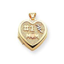"15mmX15mm 14K Yellow Gold ""#1 MOM"" Heart Locket"