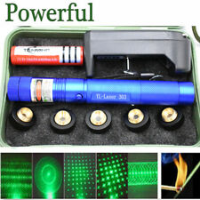 LASERPOINTER GRÜNER STRAHL 30 kM  AKKU+ STAR CAPS 1mW GREEN LASER POWER +BOX