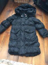 Name it girl black padded coat detachable hood size 5-6 years
