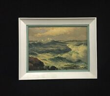 Original Vintage Oil On Canvas Seascape Painting By ALFRED FULLER