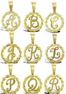 375 9ct GOLD ALPHABET LETTER INITIAL CHARM PENDANT A - Z