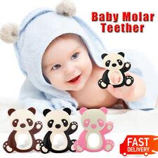 Newborn Baby Teether Panda Shape Silicone Molar Teething Toys Food Grade Safety