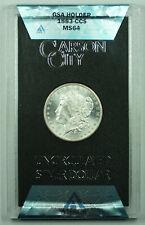 1883-CC GSA Morgan Silver Dollar $1 ANACS MS-64 w/ Box & COA (M)