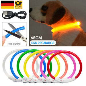 LED Leuchthalsband Vision Light Signalleuchte Hund USB Hundehalsband Blinkend