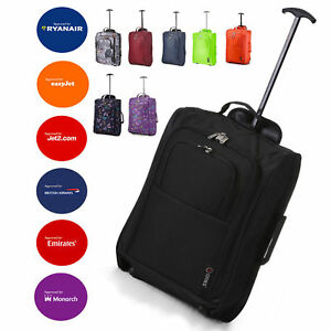 """Lightweight Small 21"""" Wheeled Hand Luggage Trolley Cabin Bag Flight Bag Suitcase"""