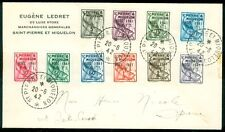 ST PIERRE : 1942 Complete Noel Christmas Postage Due set on local cover.