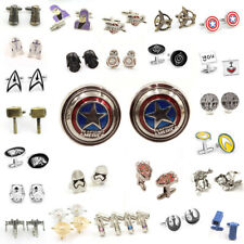 6 Pairs Men Jewelry Wedding Party Stainless Steel Shirt Novelty Cuff Links Gift
