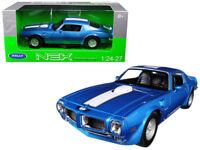 1/24 Welly 1972 Pontiac Firebird Trans Am Blue Diecast Model Car Blue 24075