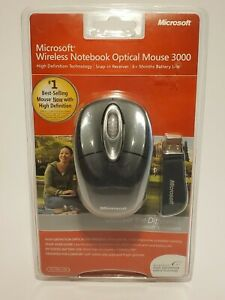 Microsoft Wireless Mobile Mouse 3000 Black Sealed Package x11-75046-02