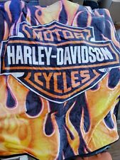 Harley Davidson Fresh Royal Plush Throw Blanket, Measures 60 by 80 inches
