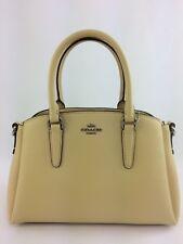 New Authentic Coach F28977 Vanilla Leather Mini Sage Caryall Handbag Purse