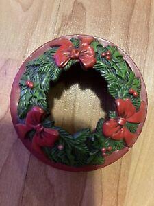 Yankee Candle Illuma Lid Wreath Bows Topper Christmas