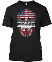Cozy American Grown With Canadian Roots - Hanes Hanes Tagless Tee T-Shirt