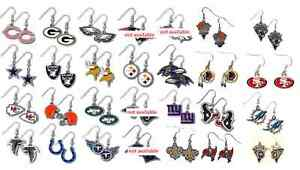 NFL Dangle Earrings Various Teams Pick Your Team NEW