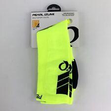Pearl Izumi Elite Tall Cycling Socks Screaming Yellow Medium 38.5-41 US 6-8