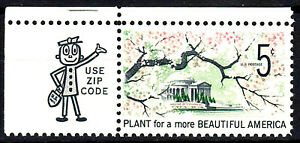 USA Mi Nr. 909 postfrisch MNH Ecke Zip Code schönes Amerika Gebäude Architektur