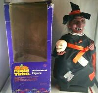 Vintage Animated Witch Halloween Figure Animatronic Motionette Talking Light Up