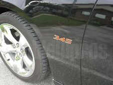"HEMI ""345"" Emblem Badge Mirror Stainless Steel + Color"