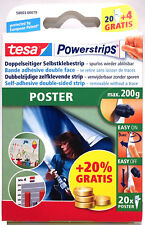 Tesa Posterstrips Large 20+4 AKTIONSPACKUNG 200g Doppelseitige Klebestreifen NEU